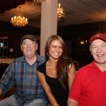 Bob and George pose with one of the Ring Girls
