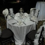 Black & Whitle table design and decor