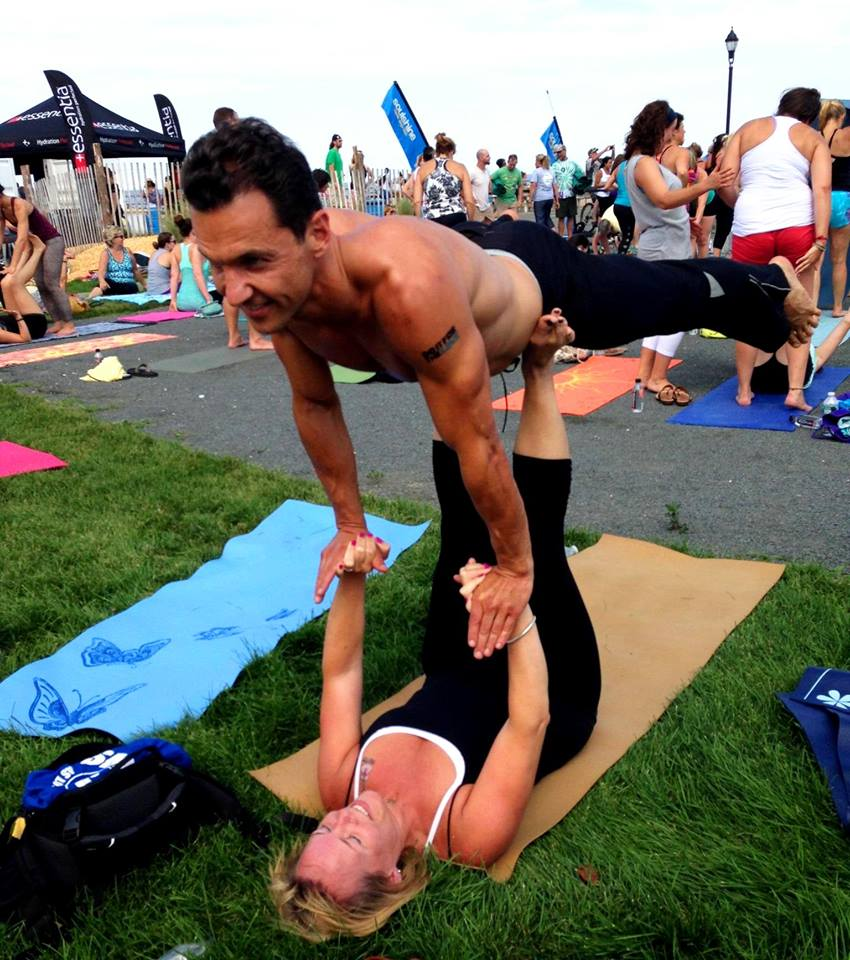 Acro Yoga: Marcello Pedalino with Kelly O'Neil Walter